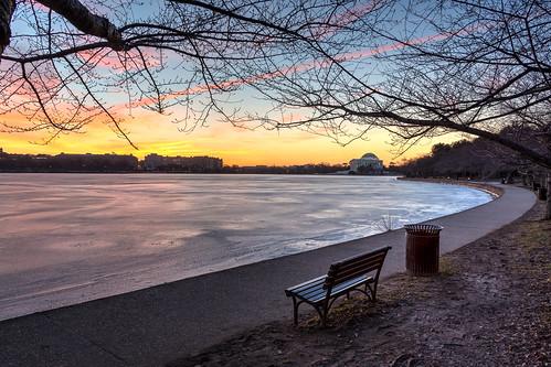ice water sunrise dc background jefferson