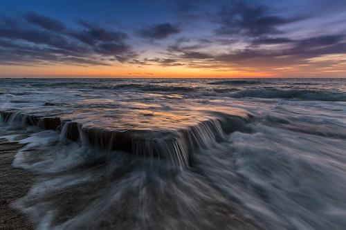 seascape clouds sunrise canon landscape rocks waves uae unitedarabemirates tides fujairah landscapephotography seascapephotography waheedakhtar exploreuae