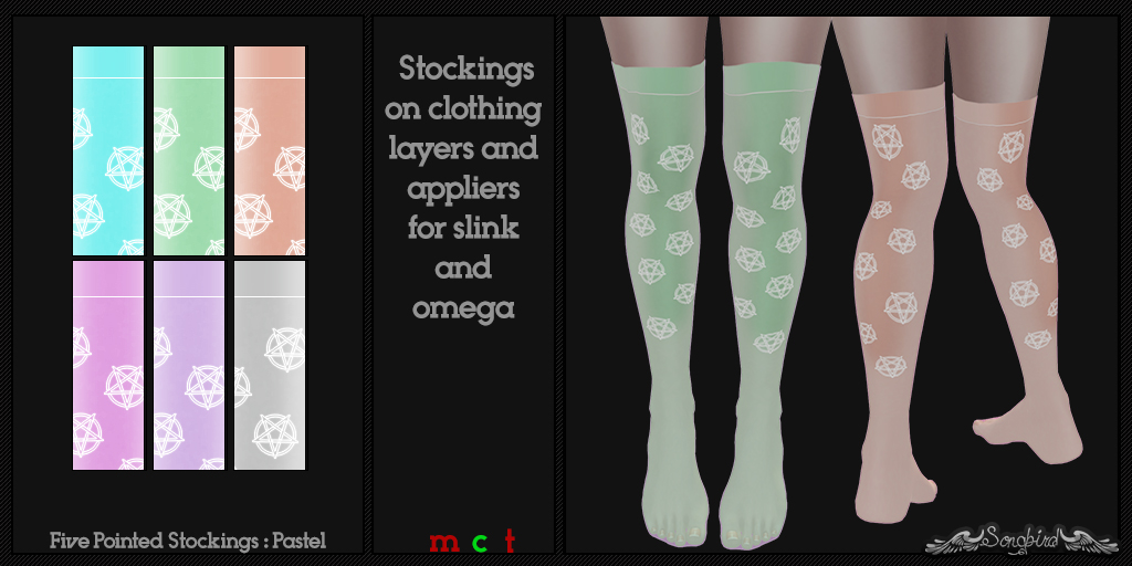 ~SongBird~ Five Pointed Stockings : Pastel