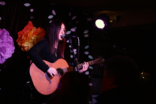 Ella Brand performing at The Acoustic Folk Highway - The Harrison, London