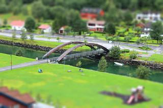 Nedre Brekkevegen, bridge over Flamselvi, Flam