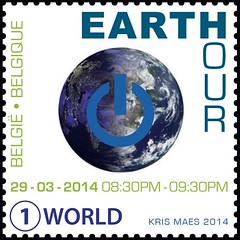 06 EARTH HOUR timbre with blacklight
