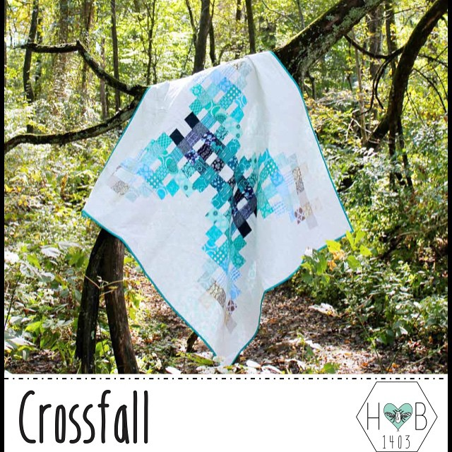 My @heartsandbees partner @a_2_w and I are happy to share one of TWO new patterns! This is Crossfall!