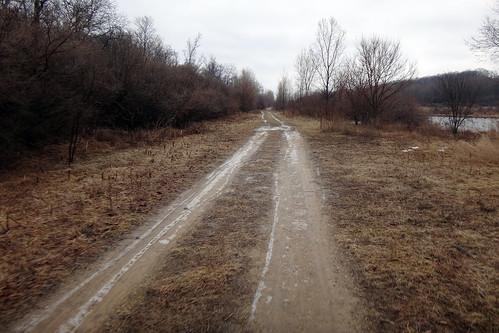 Access Road Gravel Ice