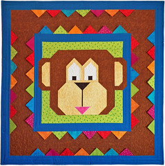 Monkeying Around Custom Quilt by Whimzie Quiltz