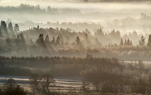 sunrise scotland rays sunbeams drymen buchanancastle strathendrick nikonafsvr70300f4556gifed nikond800