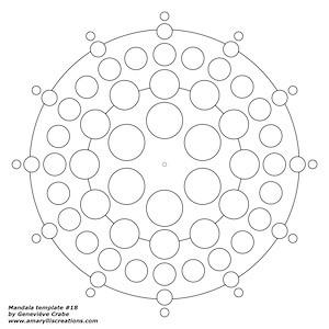 Mandala template 18
