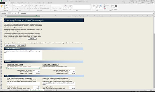The cover crop tool is an Excel spreadsheet developed for easy use. Click to enlarge.