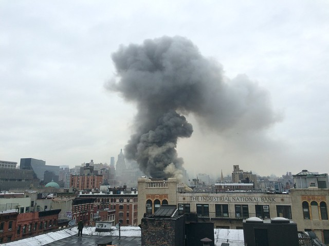 2nd Av. building fire/collapse