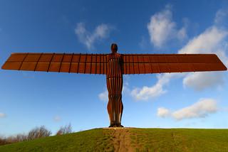 ANGEL OF THE NORTH, GATESHEAD, TYNE AND WEAR, ENGLAND.