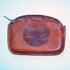 Vintage 1950s Tooled Leather Coin Purse Souvenir of Alaska