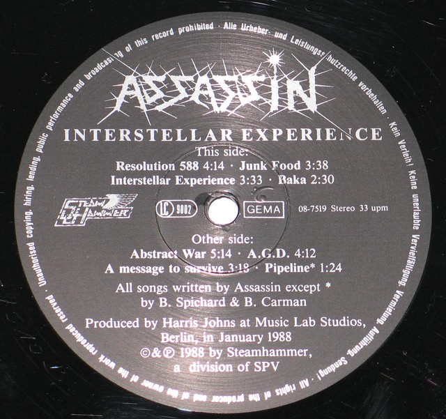 "Assassin Interstellar Experience 12"" Vinyl LP"