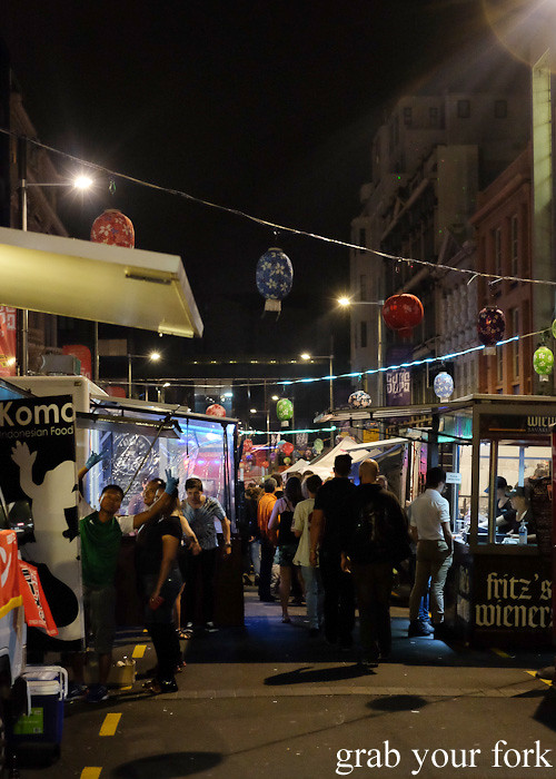 Wellington Night Market on lower Cuba Street