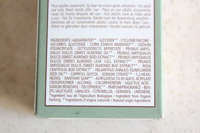 L'Occitane Almond Velvet Serum ingredients