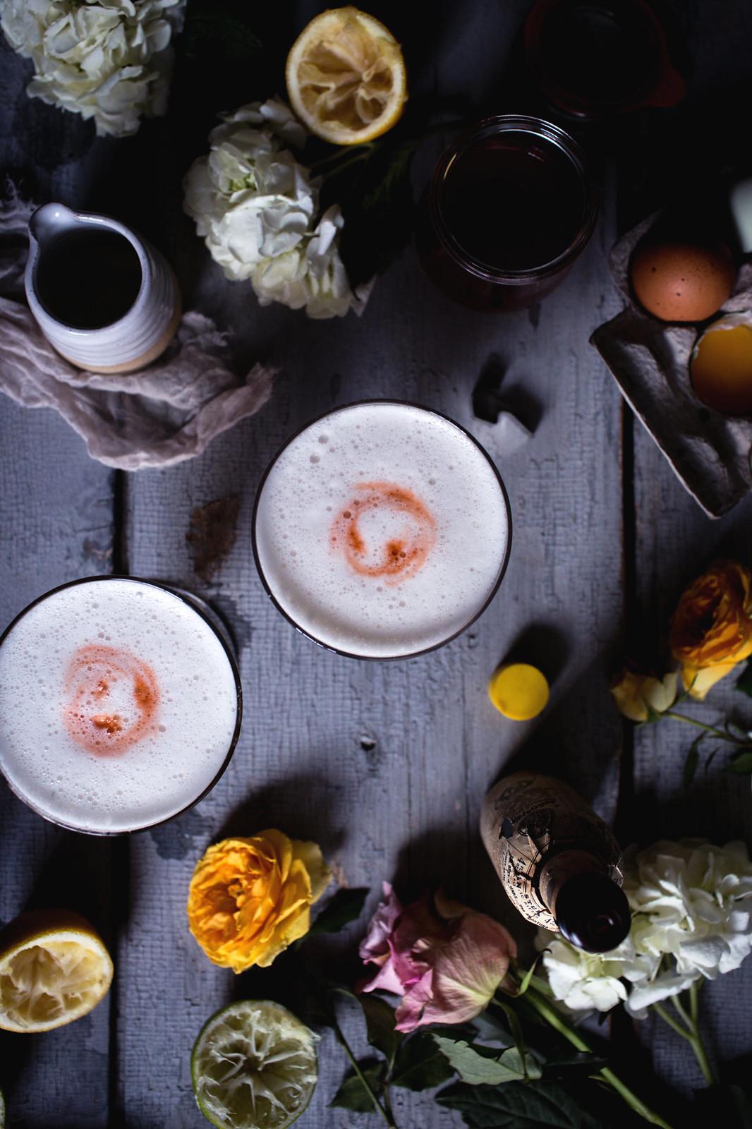 Honey-Rhubarb Pisco Sour