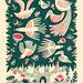 Tree bird A5 Screen print by Melissa Castrillon