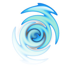 zig zag in blue