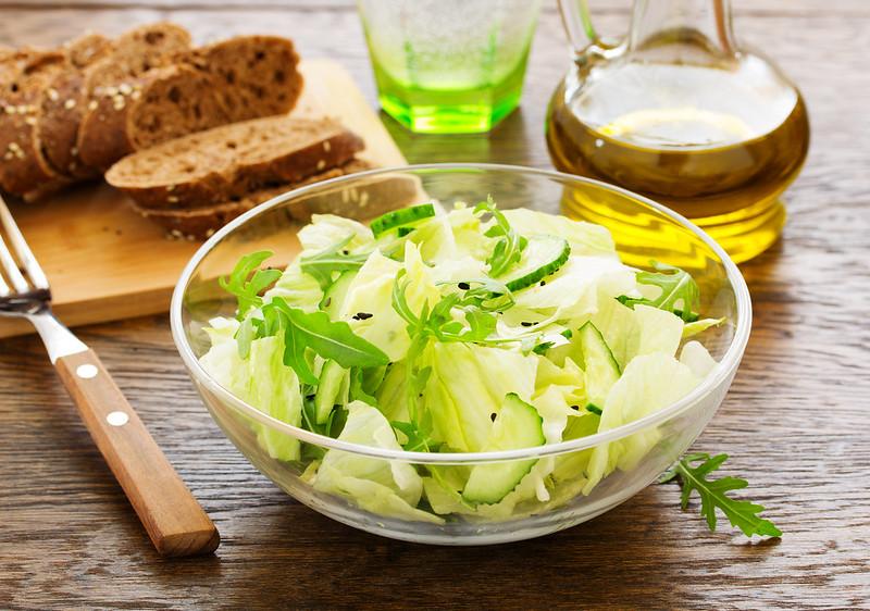 Cucumber salad, Romano with sesame seeds
