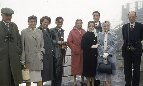 My mom (second from right) on a Los Angeles Department of Water & Power junket to France in 1960