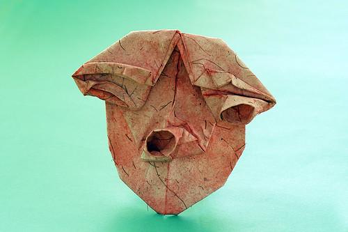 """Origami """"Otoko' (Toyoaki Kawai)"""