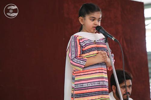 Child devotee Ahbinniti Ahuja from Hyderabad, expresses her views