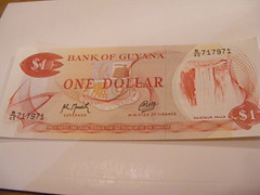 Bank of Guyana Dollar Banknote