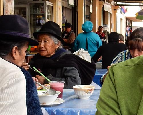 Riobamba: repas de midi au Mercado Central