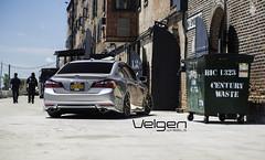 Bagged Honda Accord Sedan on Velgen Wheels VMB6 Matte Gunmetal 20x9 & 20x10.5