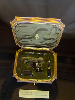 Antique Steyr pistol set
