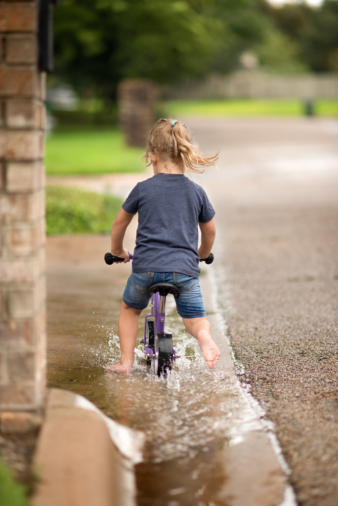Biking Through the Puddles