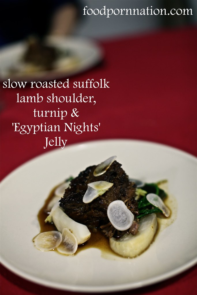 London Food Blog - Startisans, Covent Garden - Tasting Room, slow roasted suffolk lamb shoulder, turnip &  'Egyptian Nights'  Jelly