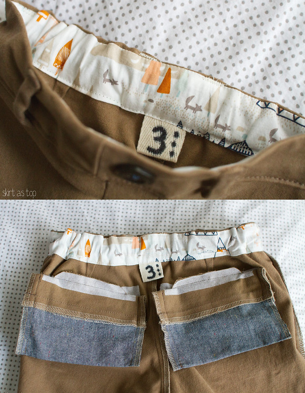 upcycled art museum trousers // skirt as top