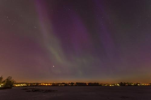 longexposure winter lake ice night suomi finland landscape frozen nocturnal northernlights auroraborealis 2015 tuusula オーロラ revontuli