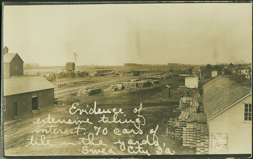 railyards claytiles photopostcards drainagesystems sweacityiowa tilingbusiness