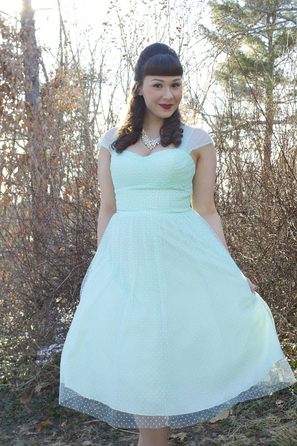 mint retro dress