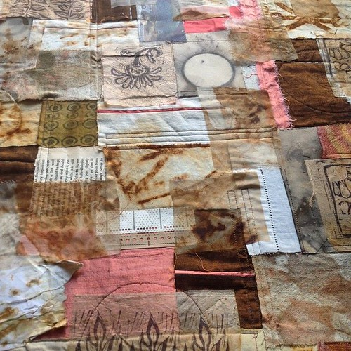 Elements of an art quilt ~ in progress