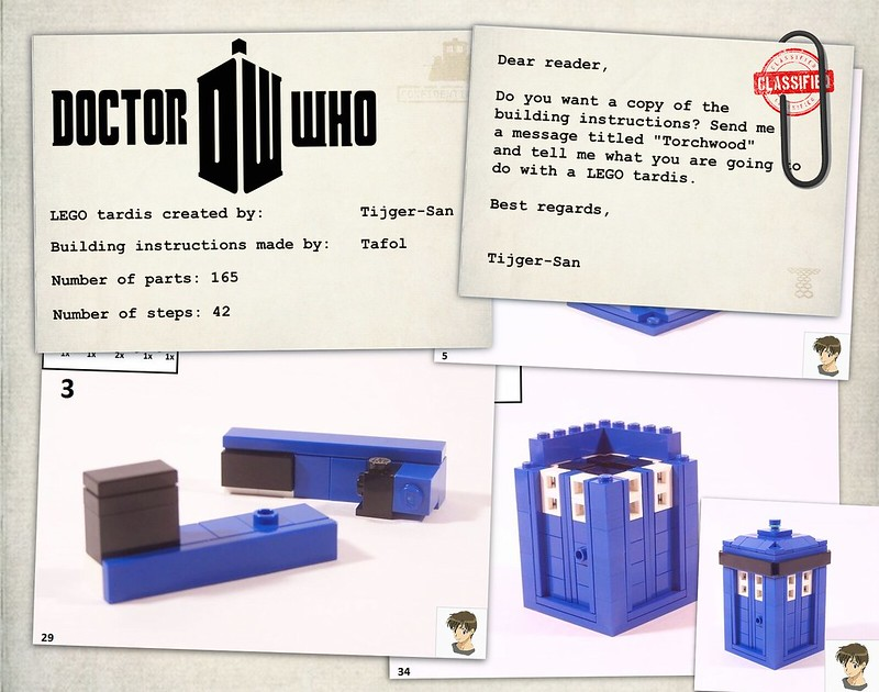 Moc Doctor Who Lego Tardis With Building Instructions Lego