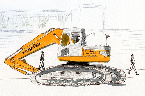 3-11-15 Komatsu crawler excavator in Roosevelt neighborhood