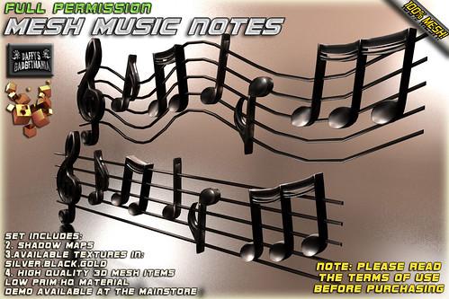 Mesh Music Notes ~Full Permission~