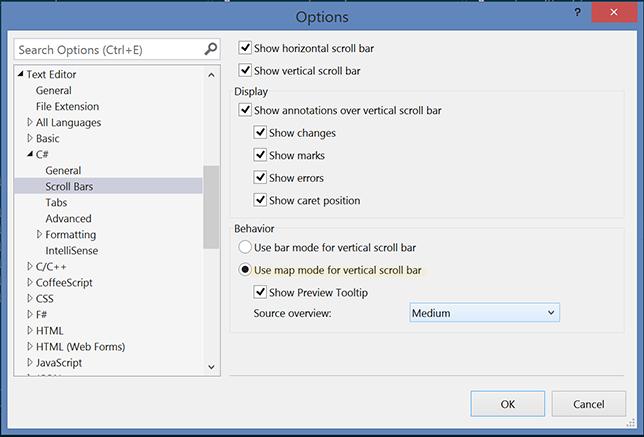 Scroll Map Mode Options