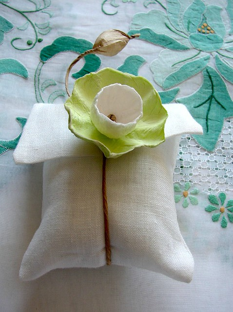 Wedding Confetti Bag with Paper Flower by Alessandra Fabre Repetto