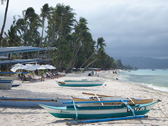 Boats on White Sand Beach, Boracay
