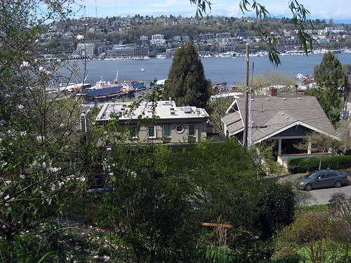 Lake Union and Queen Anne Hill from Streissguth Gardens