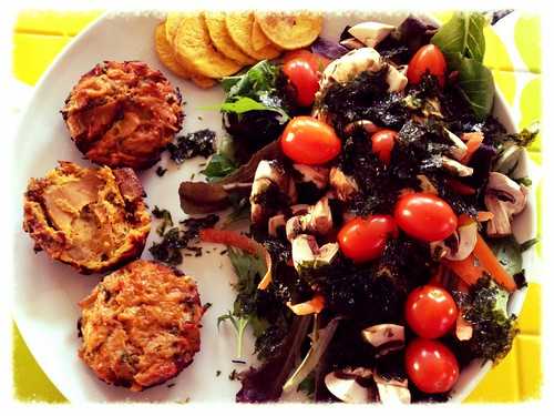 Tuna-Sweet Potato Cakes + Big Salad