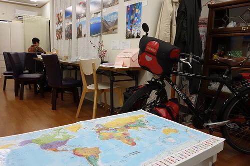 地図と自転車