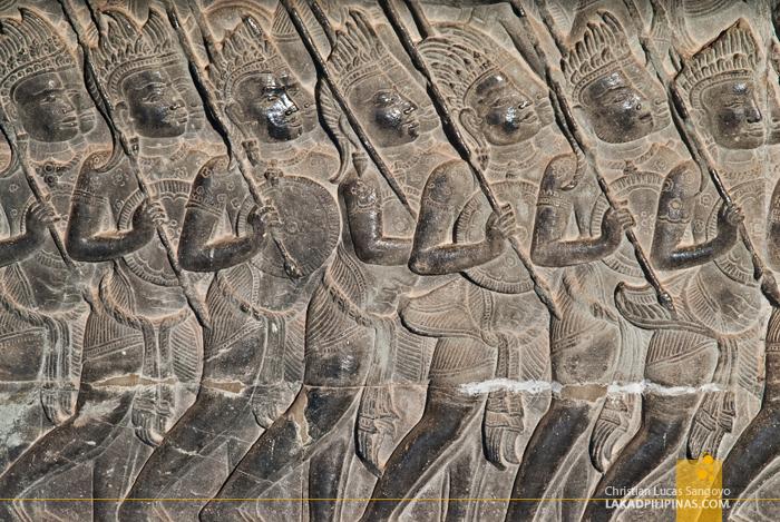 Angkor Wat Bas-Relief in Siem Reap