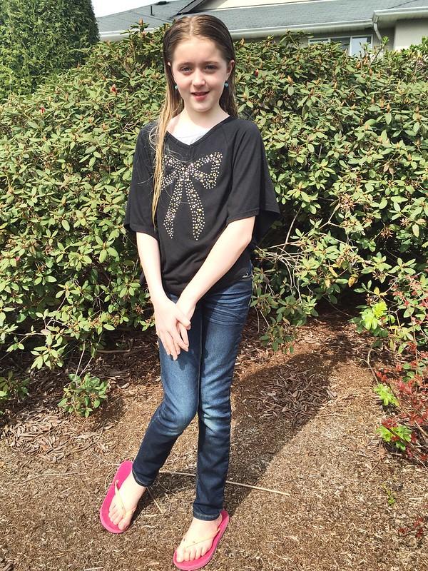 Strike a pose. She's 11.