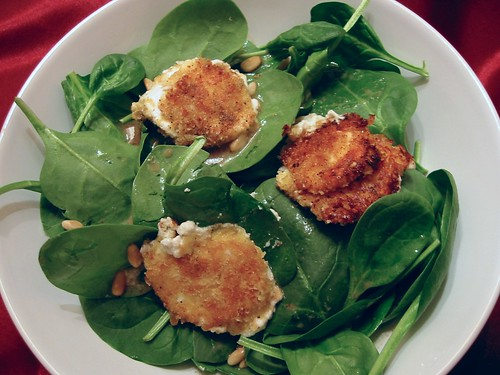 Fried Goat Cheese Salad With Maple-Mustard Vinaigrette 004