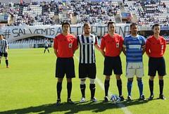 TRÍO ARBITRAL Y CAPITANES DEL FC CARTAGENA 1 LUCENA CF 0