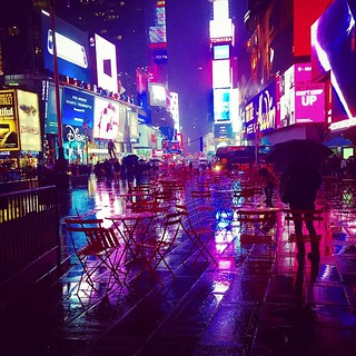#Times Square in the rain